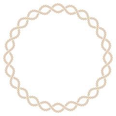 Vector ring rope frame border line