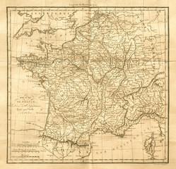 Vintage map of France. Old & Antique