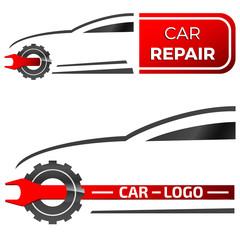 Wall Mural - Autoreparatur, Autowerkstatt - logo design