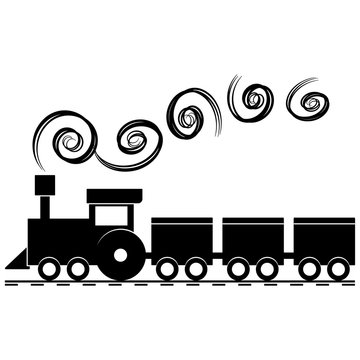 Toy trains silhouette