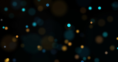 Dust particles. Abstract background of particles. Bokeh of lights on black background. 3d rendering