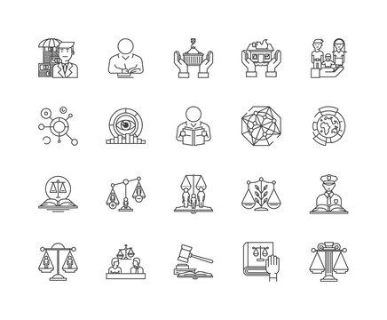 Governance line icons, linear signs, vector set, outline concept illustration