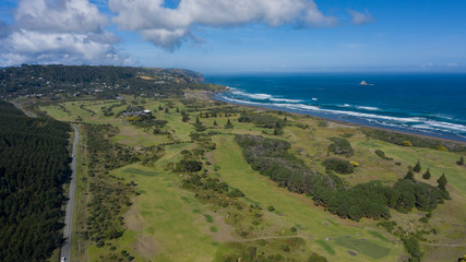 Muriwai beach and golf course, west coast, New Zealand