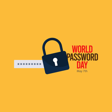 happy world password day vector template. design for your celebration.