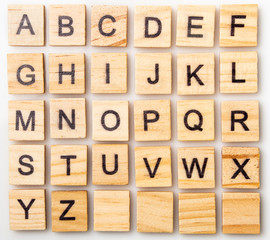 Complete Scrabble letter English alphabet uppercase