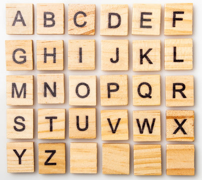Complete Scrabble letter English alphabet uppercase