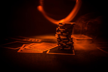 Casino element isolation on the colorful, Slot machine, Roulette while, Dice, Casino chip - image