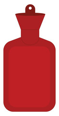 A red hot water bottle, vector or color illustration