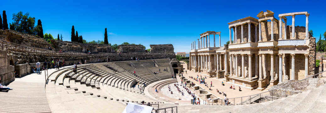 The Theatre of Mérida is a construction promoted by the consul Vipsanius Agrippa in the Roman city of Emerita Augusta, capital of Lusitania (current Mérida, Spain).