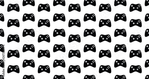 Modern video game controllers background video clip motion