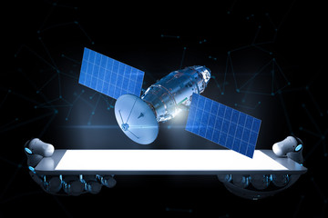 Telecommunication technology concept