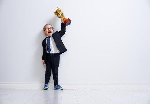 Little child is winner.