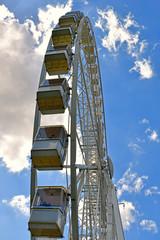huge white ferris wheel in Budapest