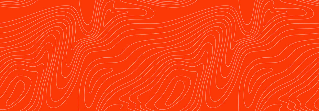 Abstract Vector Seamless Pattern with Linear Stylized Salmon Fish Fillet Texture.