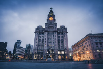 Royal Liver Building in Liverpool