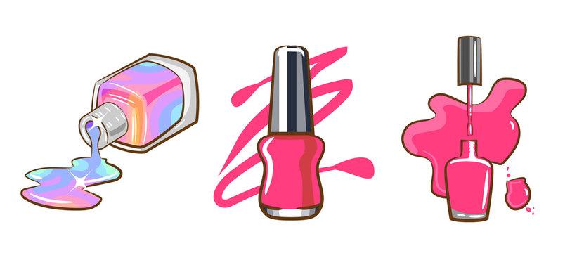 nail polish vector clipart graphic design