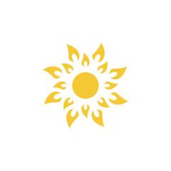 Sun icon - vector. Simple element illustration summer concept. Sun icon - vector. Summer concept vector illustration.