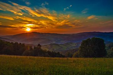 Foto op Canvas Meloen Beskid Wyspowy - Góry Karpaty