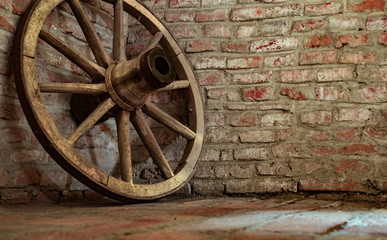 the old wheel of the cart Wall mural