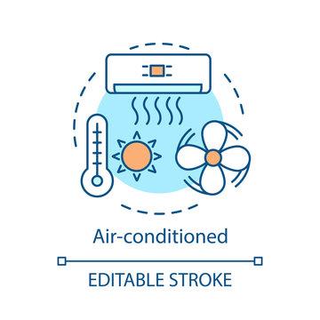 Air-conditioned concept icon