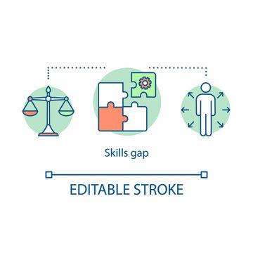 Skills gap concept icon