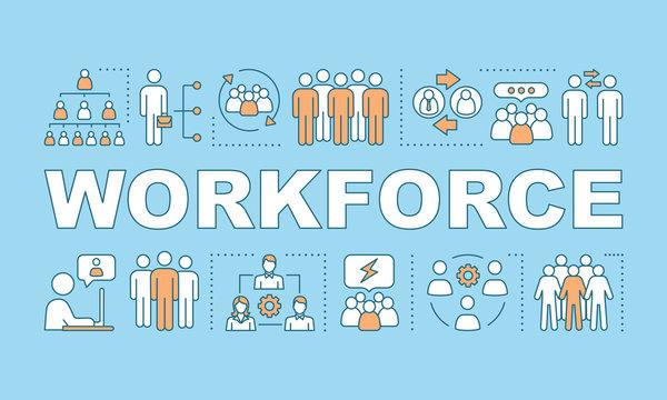 Workforce  word concepts banner