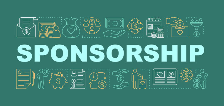 Sponsorship word concepts banner