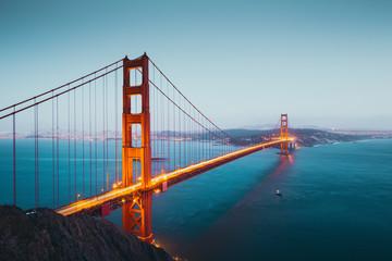 Golden Gate Bridge at twilight, San Francisco, California, USA