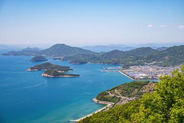 Landscape of islands on the Seto Inland Sea, Mitoyo city,Shikoku,Japan