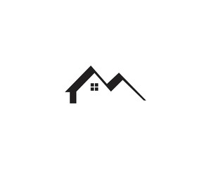 home logo vector icon template