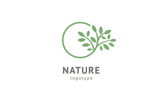Abstract nature logo icon vector design. Healthy eco food, ecology, spa, business, diet , yoga, Environment day vector logo. Editable Design. Fitness web icon.