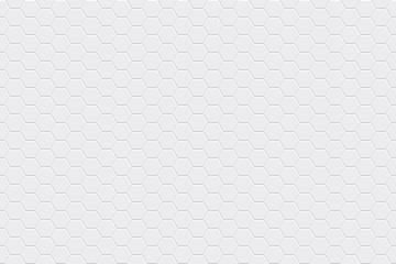 Obraz White horizontal seamless tiles texture. Hexagonal modern pattern. Vector illustration - fototapety do salonu