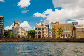Recife, Pernambuco, Brazil: Panoramic view of Marco Zero Square at Ancient Recife district