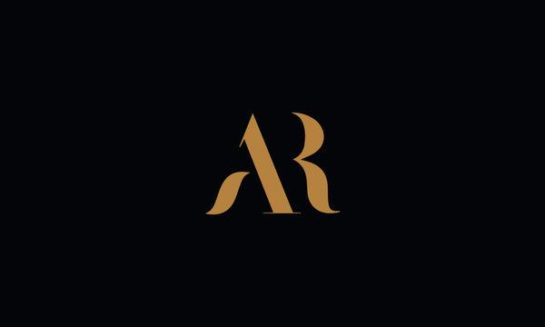 AR logo design template vector illustration