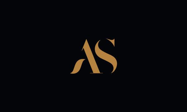 AS logo design template vector illustration