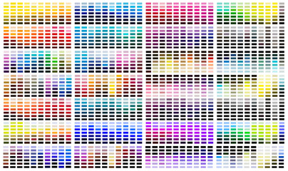 Colour reference swatch palette Wall mural