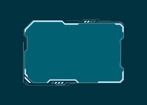 HUD futuristic user interface screen element. Virtual dashboard. Abstract control panel layout design. Sci fi virtual tech display. Vector illustration