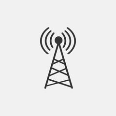 Signal vector icon solid grey