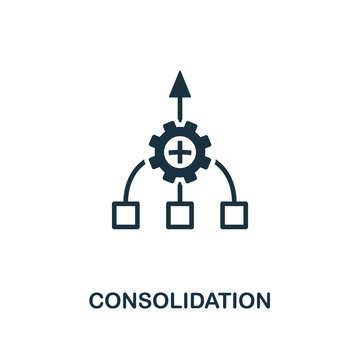 Consolidation icon. Creative element design from business strategy icons collection. Pixel perfect Consolidation icon for web design, apps, software, print usage