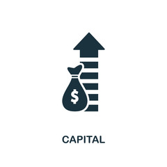 Capital icon. Creative element design from business strategy icons collection. Pixel perfect Capital icon for web design, apps, software, print usage