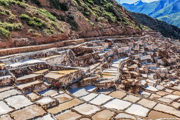 Salinas de Maras, salt evaporation ponds, near Cusco, Peru