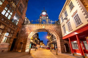 East gate  is a prominent landmark in the city of Chester and is said to be the most photographed clock in England after Big Ben.