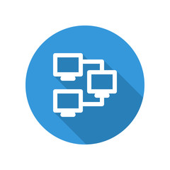 Vector illustration icon for intranet