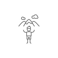 Peak, adventure icon. Element of adventure icon. Thin line icon for website design and development, app development. Premium icon