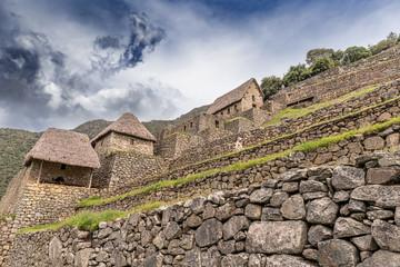 Ancient Incas city of Machu Picchu in Peru.