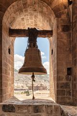 Bell at the tower of San Francisco de Asís Church, Cusco, Peru.