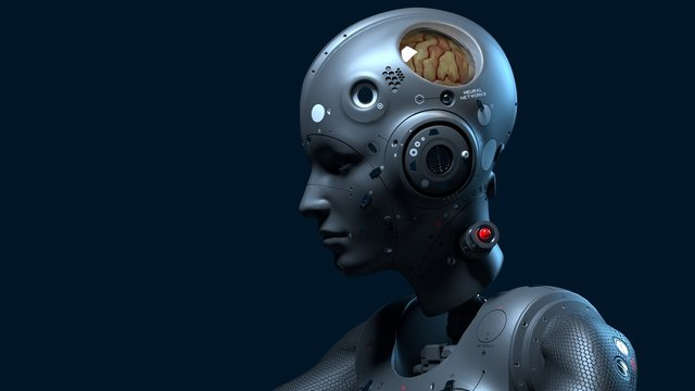 robot woman, sci-fi woman  digital world of the future of neural networks and the artificial intelligence 3d render