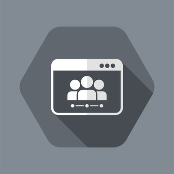 Networking concept - Vector flat minimal icon