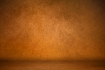Background studio portrait backdrops brown canvas background on the wall and on the floor with a soft transition. Wall mural