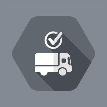Check courier services - Vector web icon